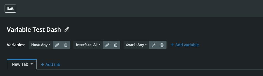 Dashboard Builder Variable Added